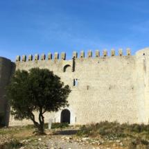 Façana meridional del castell del Montgrí