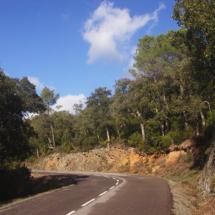 Carretera d'ascensió a Santa Pellaia